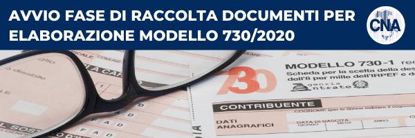 Post image for Avvio fase di raccolta documenti per elaborazione Modello 730/2020