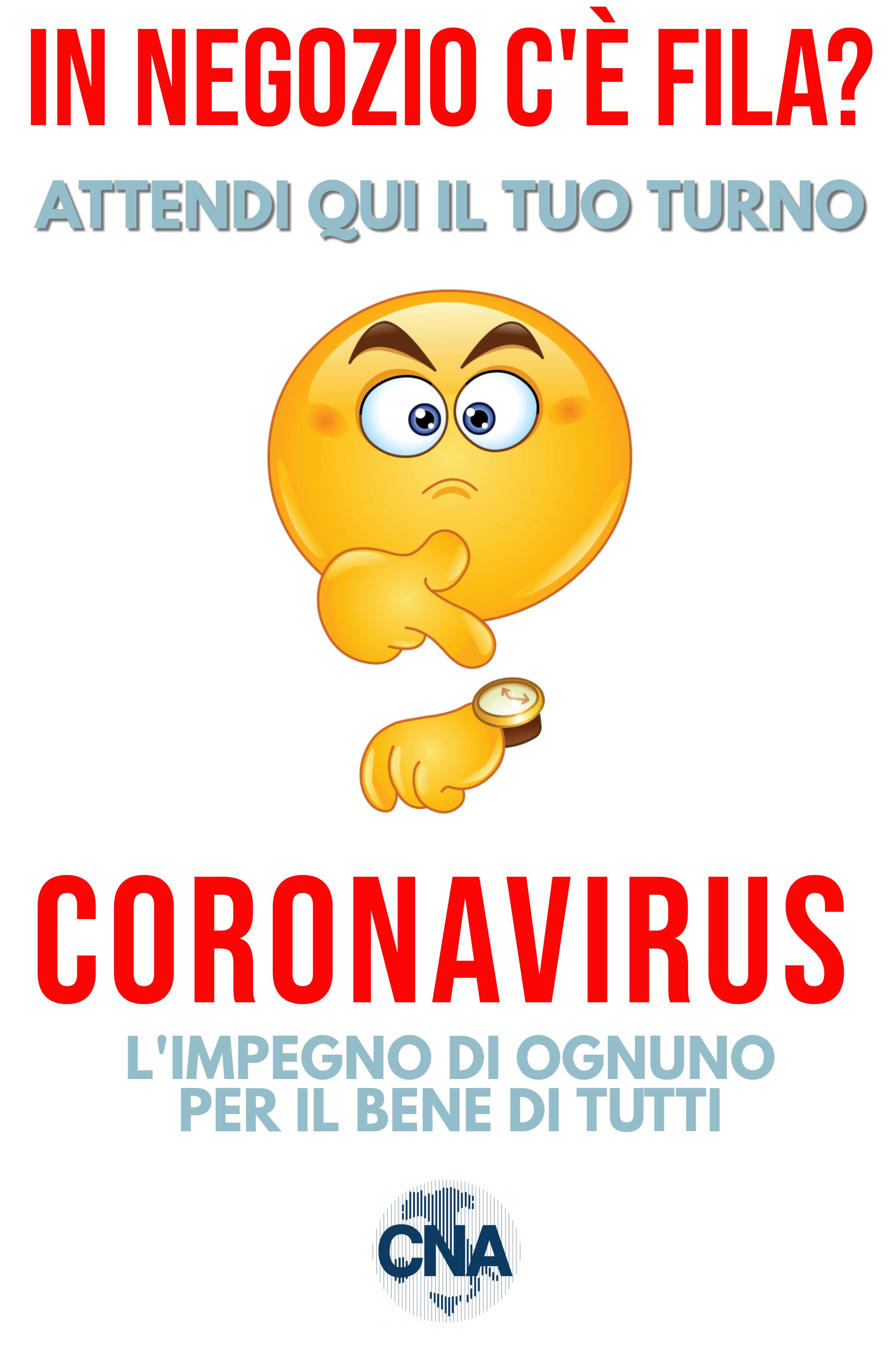 Conosciuto COVID19 - Ecco i cartelli precauzionali CNA da esporre al pubblico XG11