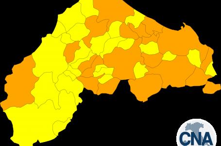 Comuni zona arancionein provincia di Ancona